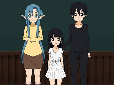 Sword Art Online Asuna,Yui and Kirito Attempt
