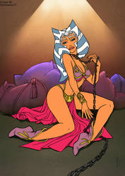 Pleasure Slave Ahsoka Coloured Lineart #Maythe4th by Darksunset12