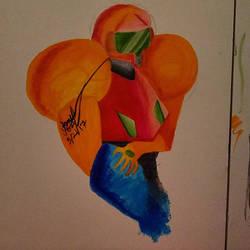 Samus Alcohol Marker Drawing/Painting