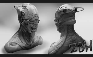 Warframe sculpt by Zbrush-Hero