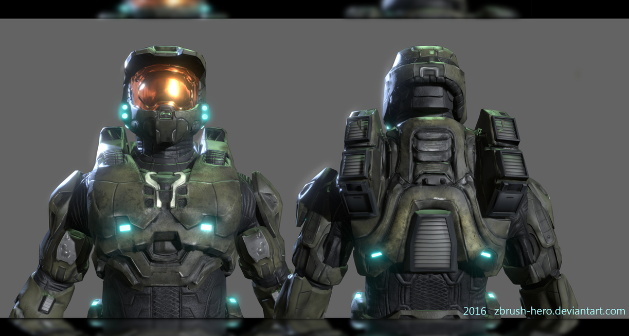 Master chief face halo 1