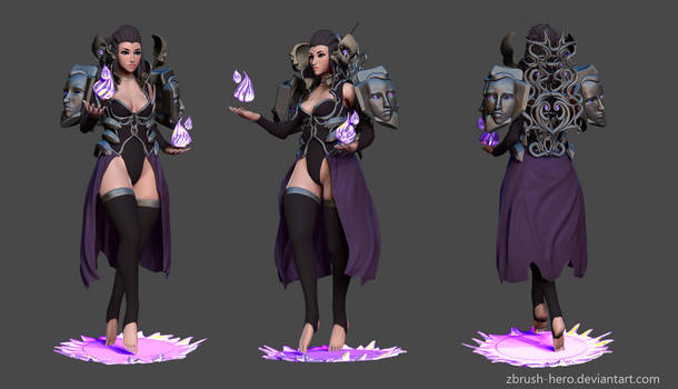 Dark Sorceress 02 Wip