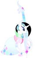 Starveil, the Crystal Bassist by BluDraconoid