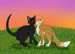 Cats-Warriors: Crowfeather x Leafpool