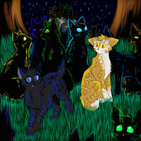 Cats-Warriors: Crowpaw x Leafpaw by Lunatic-Mo-on