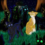 Cats-Warriors: Crowpaw x Leafpaw