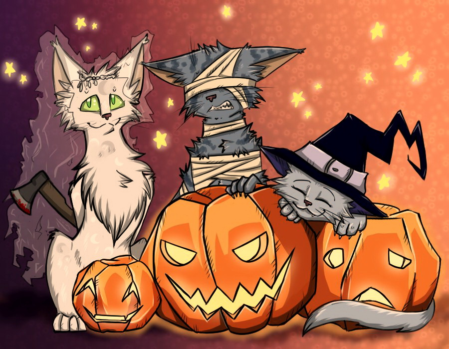 Warrior Cats - Halloween 2013 by Lunatic-Mo-on