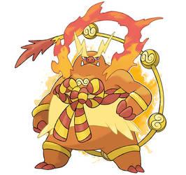 Fakemon - Mega Emboar by DevilDman