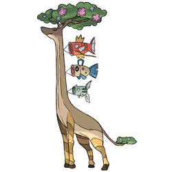 Fakemon - Giraffe Fish