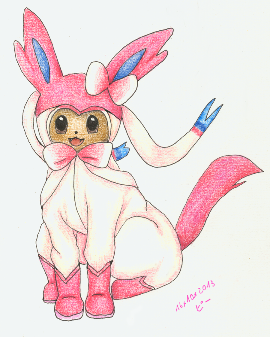 Eevee As Sylveon By Rakkasei