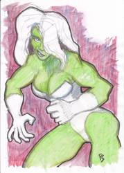 She-Hulk becomes angry