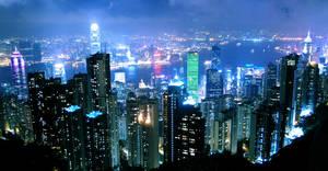 Night at Hong Kong 2 by Alexkcl