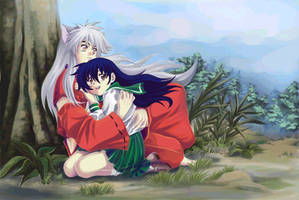 Inuyasha and Kagome by lince