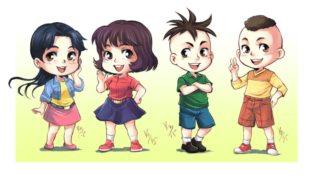 Monica's gang chibi by lince