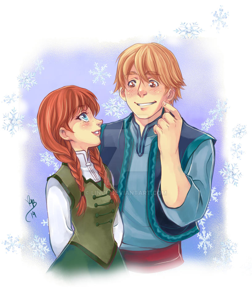 Anna and Kristoff Frozen -old by lince
