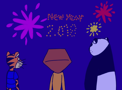 New year 2018 with crossover by twinskitty