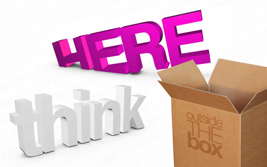 Think Outside The Box by syazwishahif