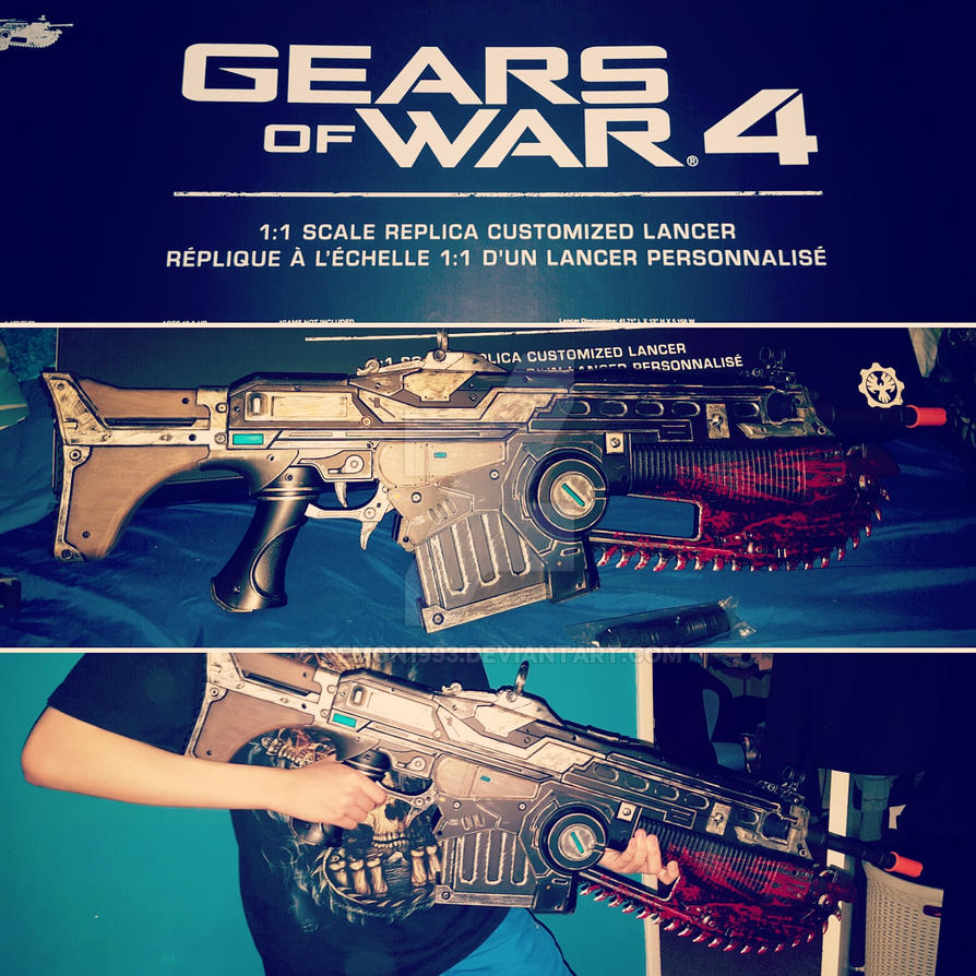 1:1 Scale GoW4 Lancer by demon1993
