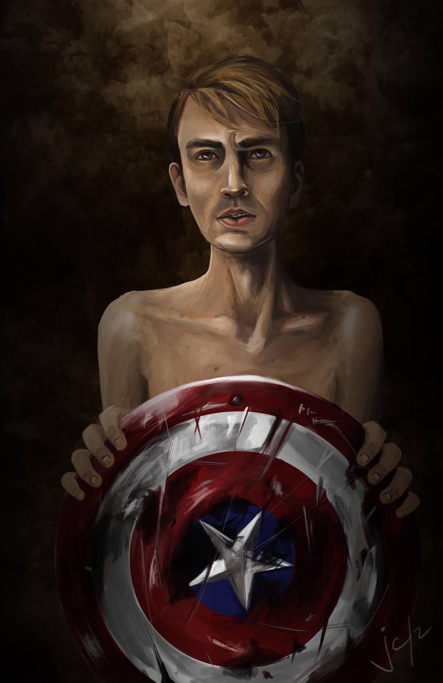 Steve Rogers, aka Captain America by jcsison