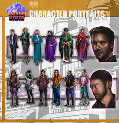 Rogue State - Character Portraits