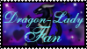 Dragon-Lady Fan STAMP -1- by CrystalJoy-Creations