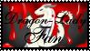 Dragon-Lady Fan STAMP -2- by CrystalJoy-Creations