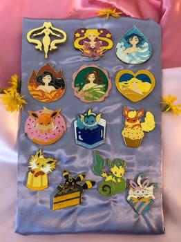 Sailor Moon and Pokemon Pins