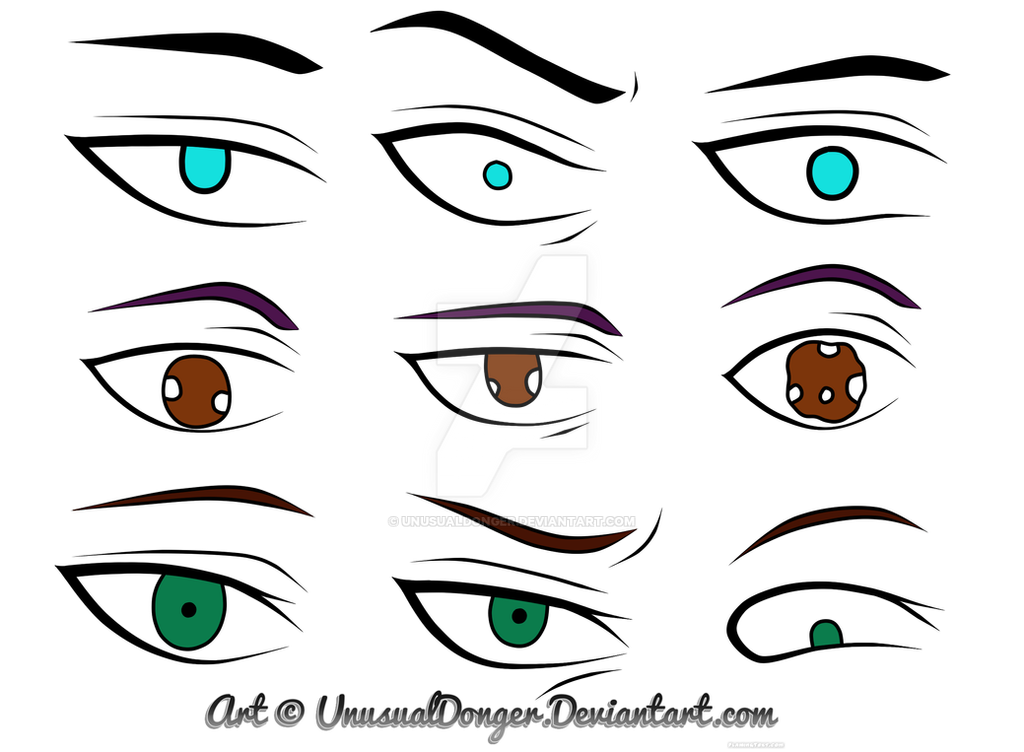 Anime Character Eyes By UnusualDonger