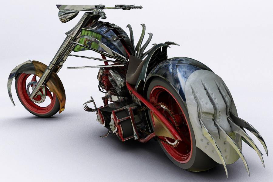 horror chopper bike by rubenvoorhees1 on deviantart