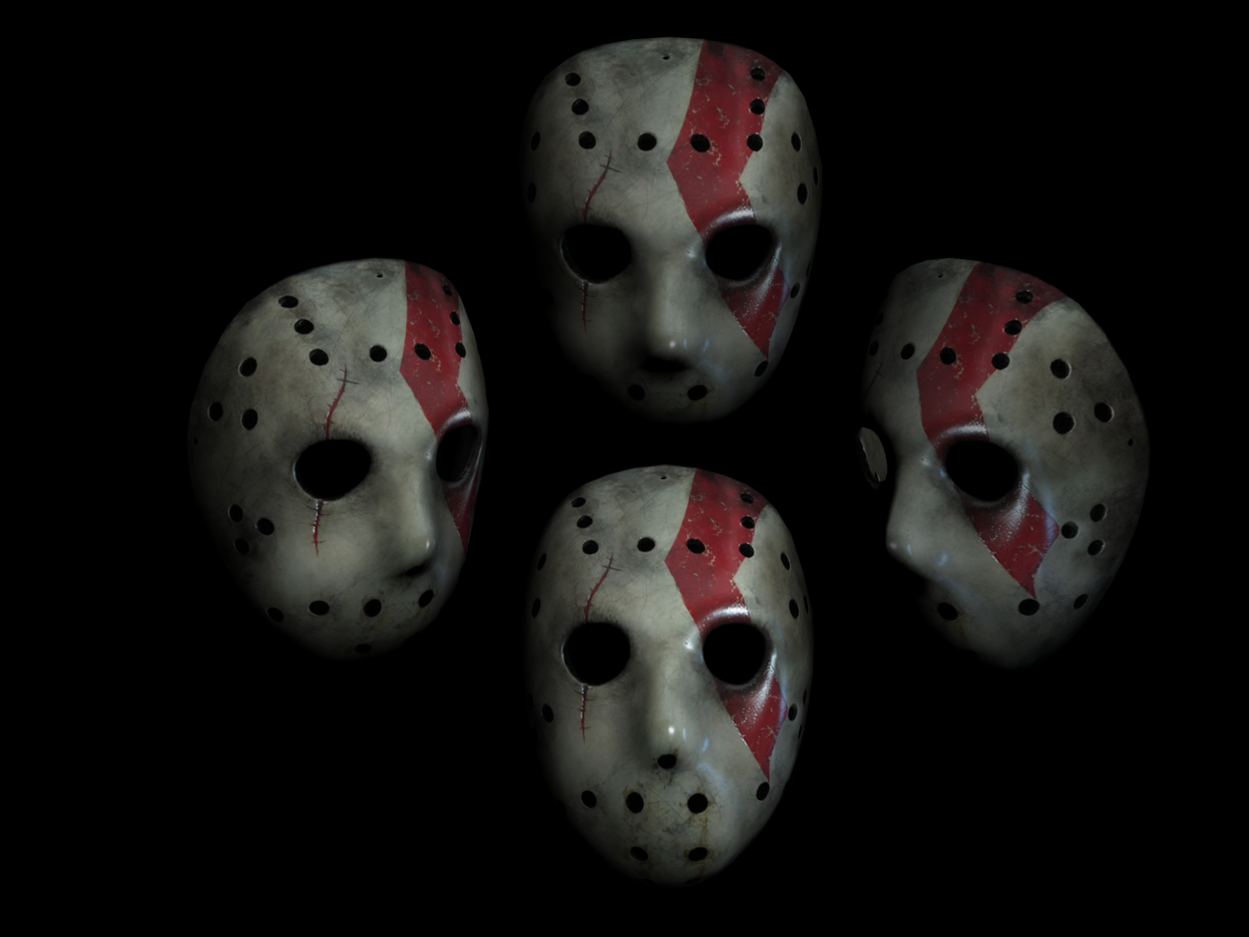 3d Jason Mask Test Texture By Rubenvoorhees1