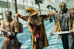 jason, leatherface, scarecrow at long beach comic