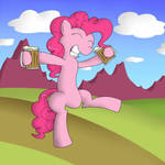 Pinkie Pie stumbling home