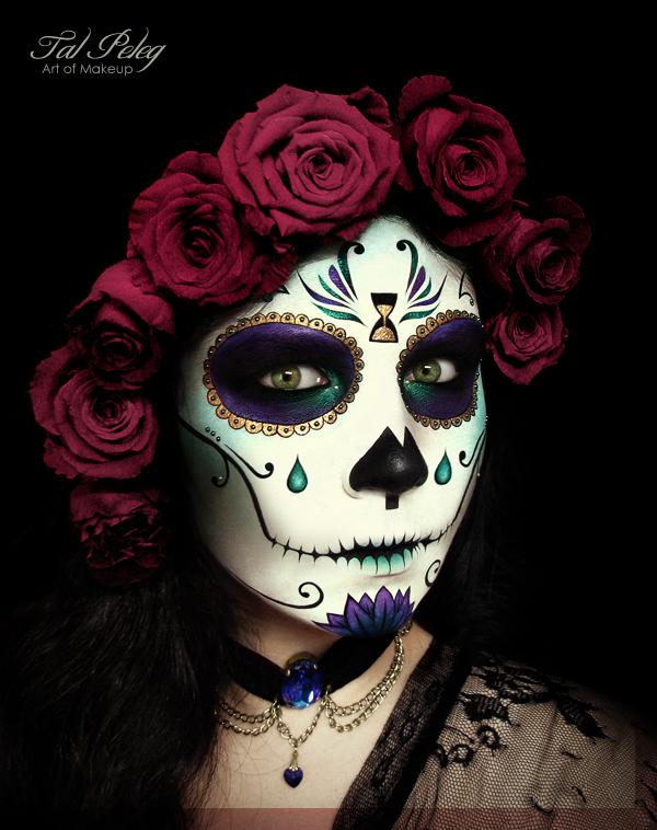 Tempus fugit sugar skull by scarlet-moon1