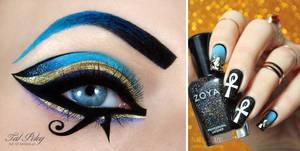 Katy Perry Dark Horse inspired makeup and nail-art
