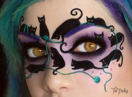 Feline Masquerade CU by scarlet-moon1