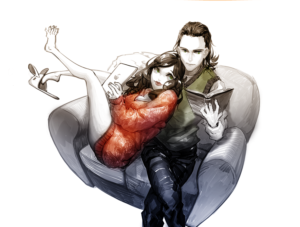 Loki and Darcy by bean8808