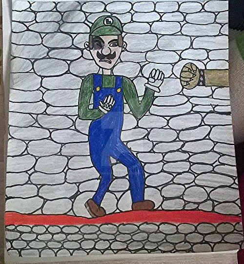 Luigi Fighting Bowser By Himself by Luigifan1558
