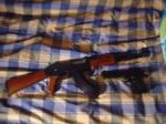 AK-47 and Desert Eagle