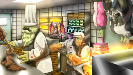 Team Bakery - Bard, Rumble, Yorick by ZemongSandwich