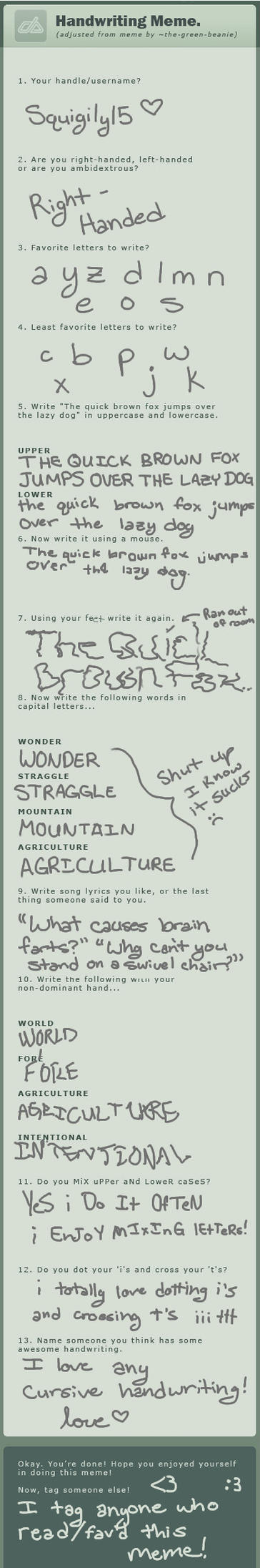 Handwriting Meme by Squigily15