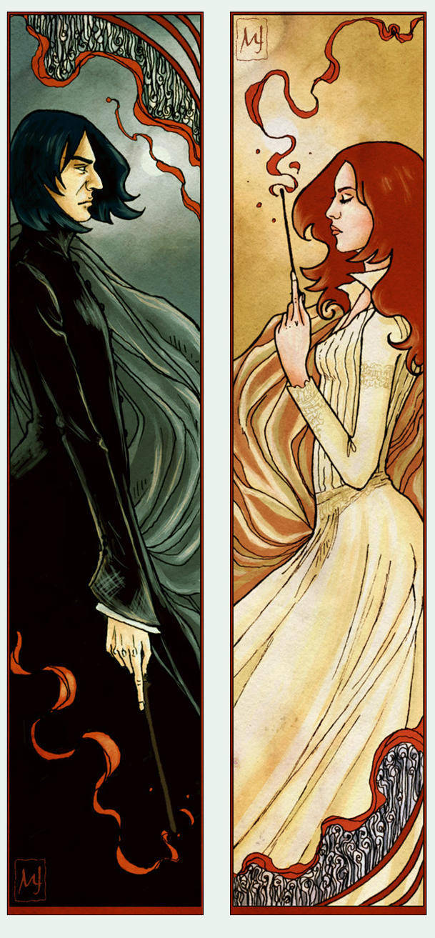 Severus+Lily Bookmarks by ellaine