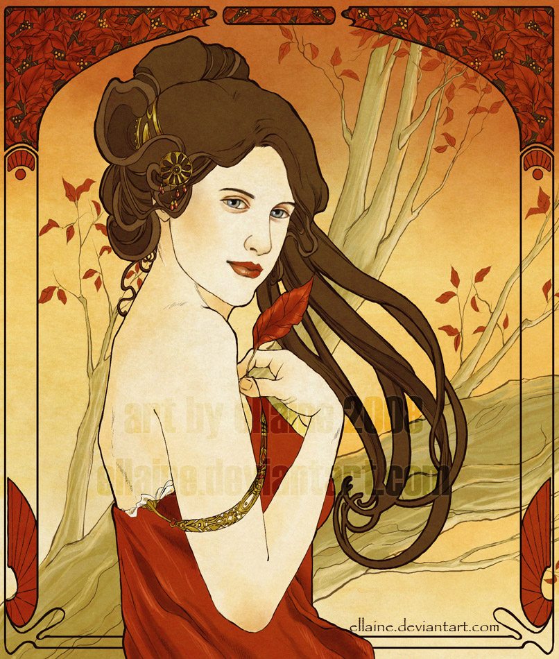 Art Nouveau - Autumn by ellaine