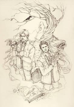 Hunters - pencil