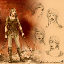 Geralt's team - Milva by ellaine
