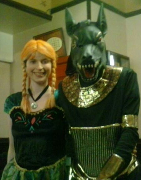 anna from frozen and anubis by mistyminxchick