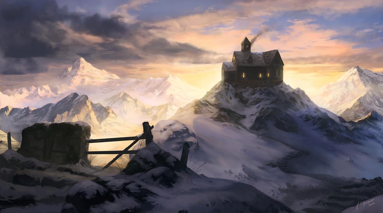 Winter Cottage by jcbarquet