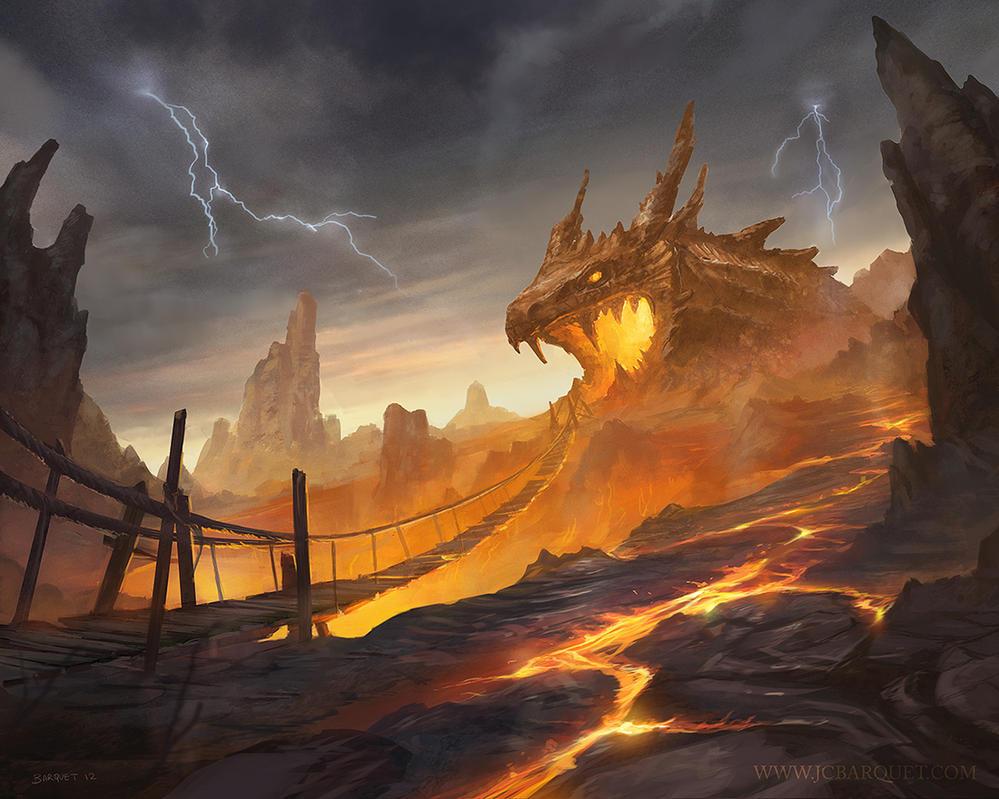 Painting Art Phoenix Fire Fantasy Digital Drawing: Dragon Cave By Jcbarquet On DeviantArt