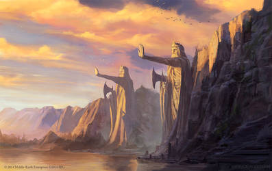The Argonath - Lord of the Rings TCG