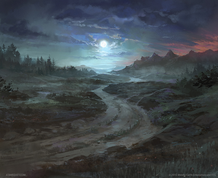 old_road___lord_of_the_rings_tcg_by_jcba