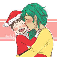 [HSV] 12DoX - Kissing Santa Claus [Day 1] by mandarain-a